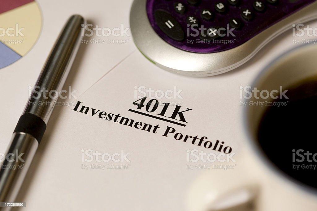 401k royalty-free stock photo