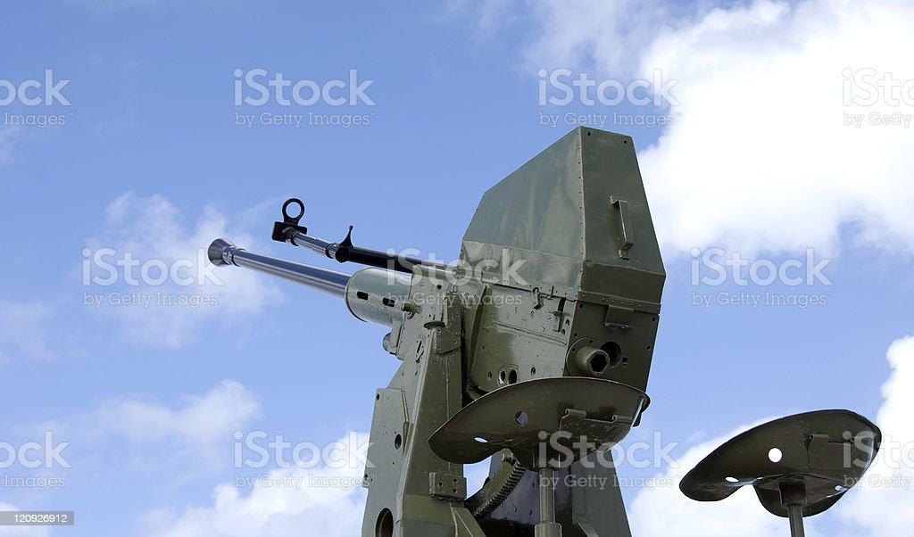 40mm Antiaircraft Gun... Side View stock photo