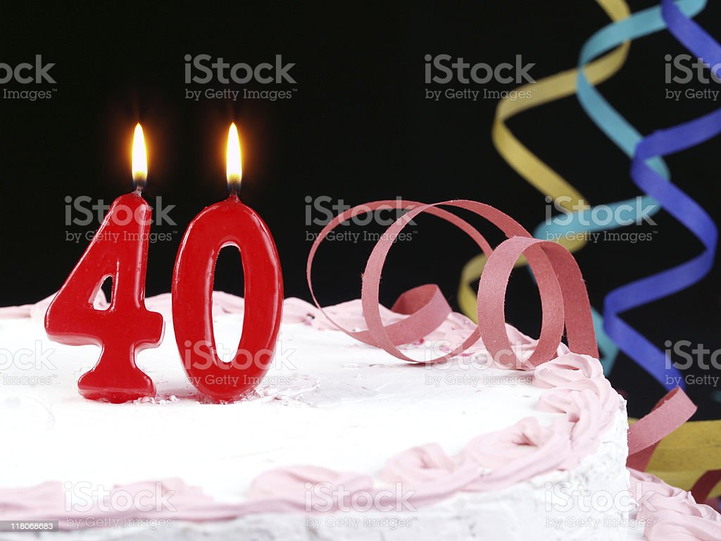 40th. Anniversary royalty-free stock photo