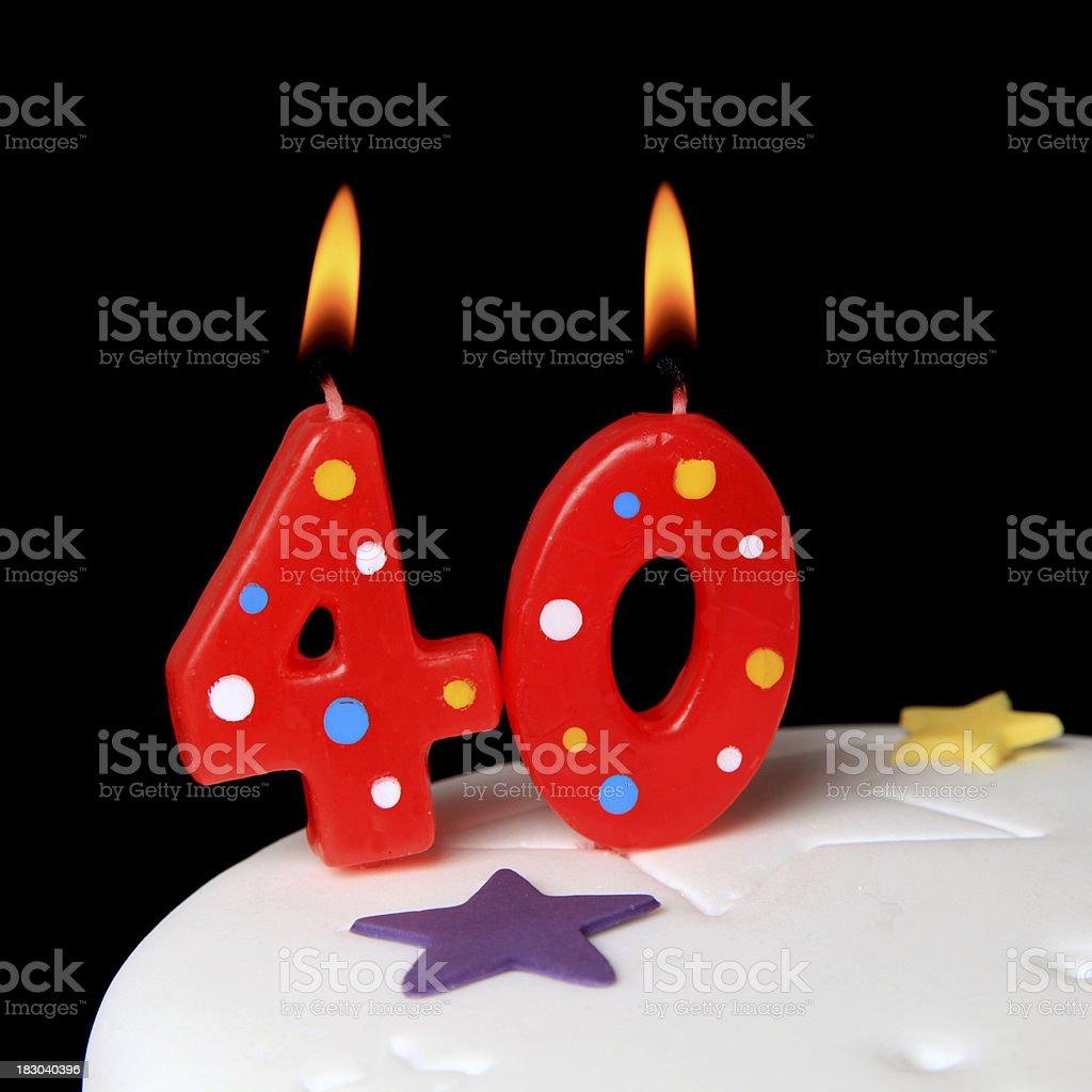 40th Birthday candles royalty-free stock photo