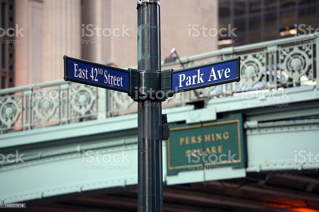 42nd street and Park Av royalty-free stock photo