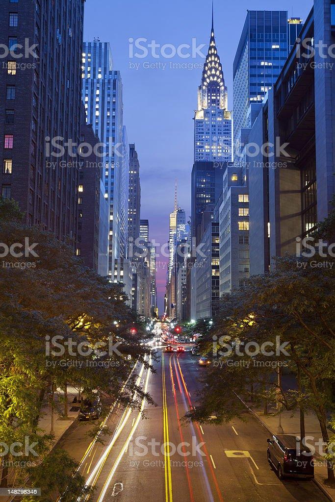42nd street in Manhattan stock photo