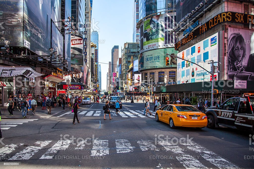 42nd street near Times Square New York City stock photo