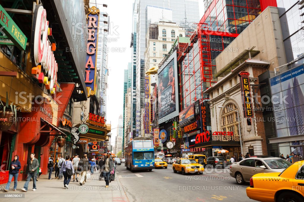 42nd Street New York City royalty-free stock photo