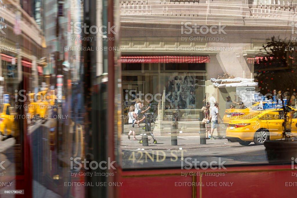 42nd Street reflection stock photo