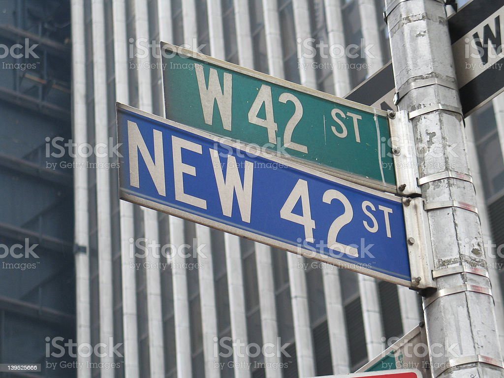 42nd street sign royalty-free stock photo