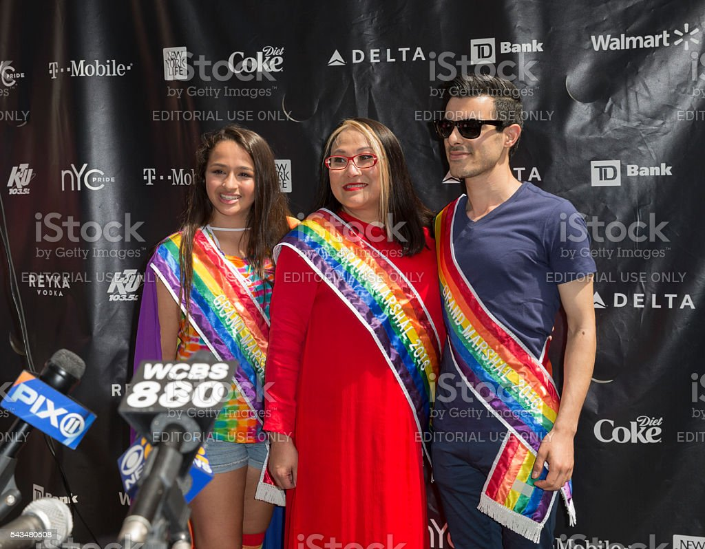 46th annual Pride parade in New York city stock photo
