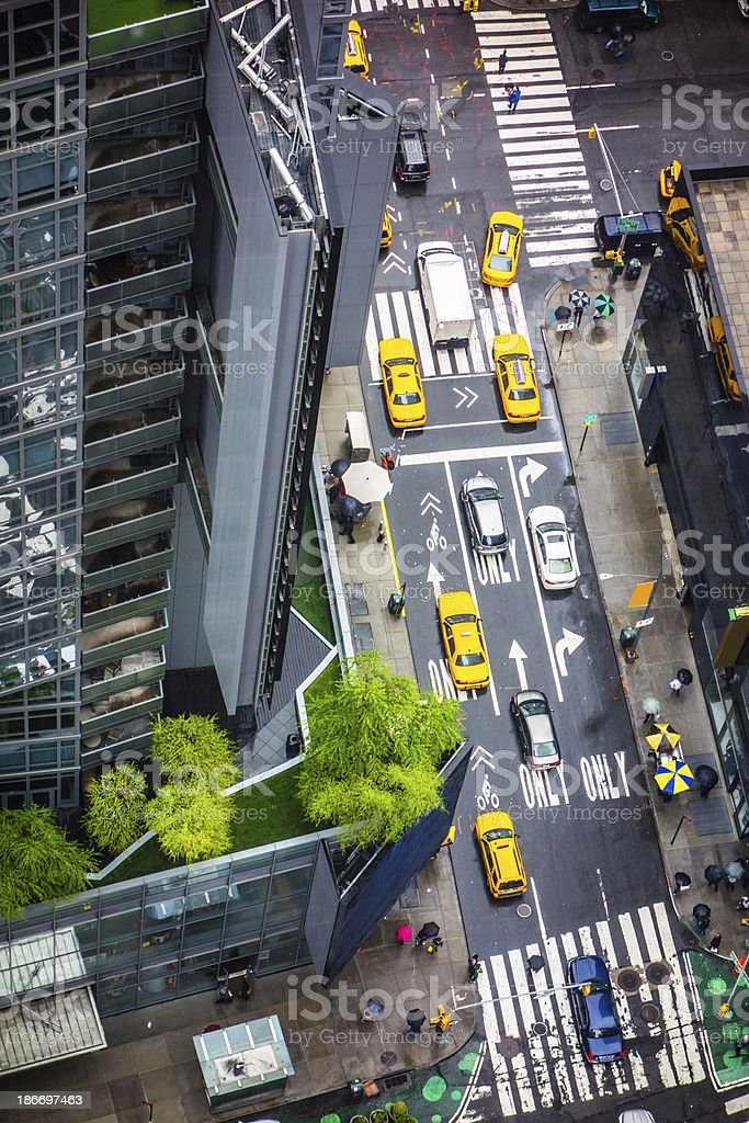 48th street between 7th Avenue and Broadway, New York City stock photo