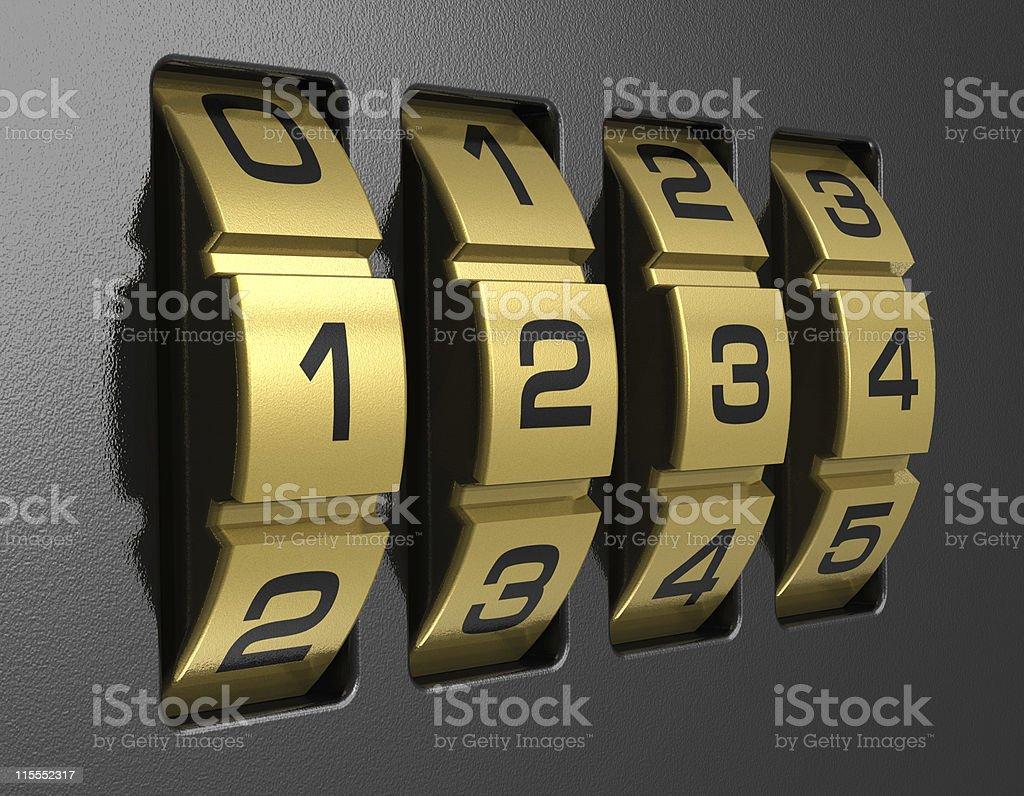 4-digit combination lock royalty-free stock photo