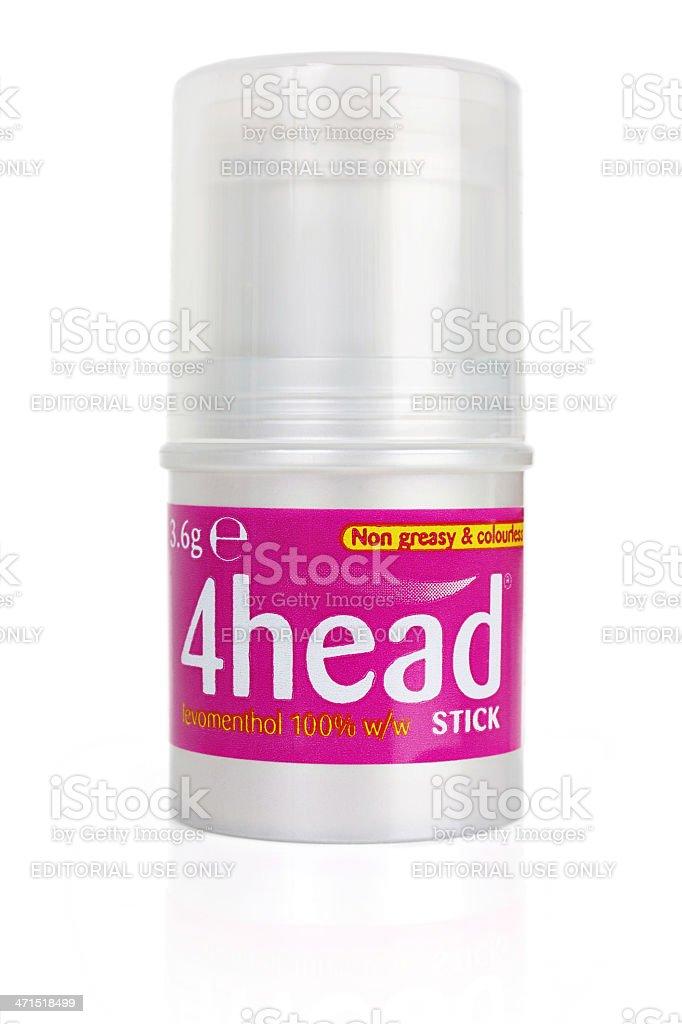 4head Headache Treatment Stick royalty-free stock photo