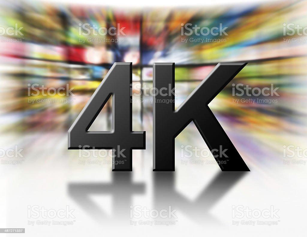 4k resolution tv concept. stock photo