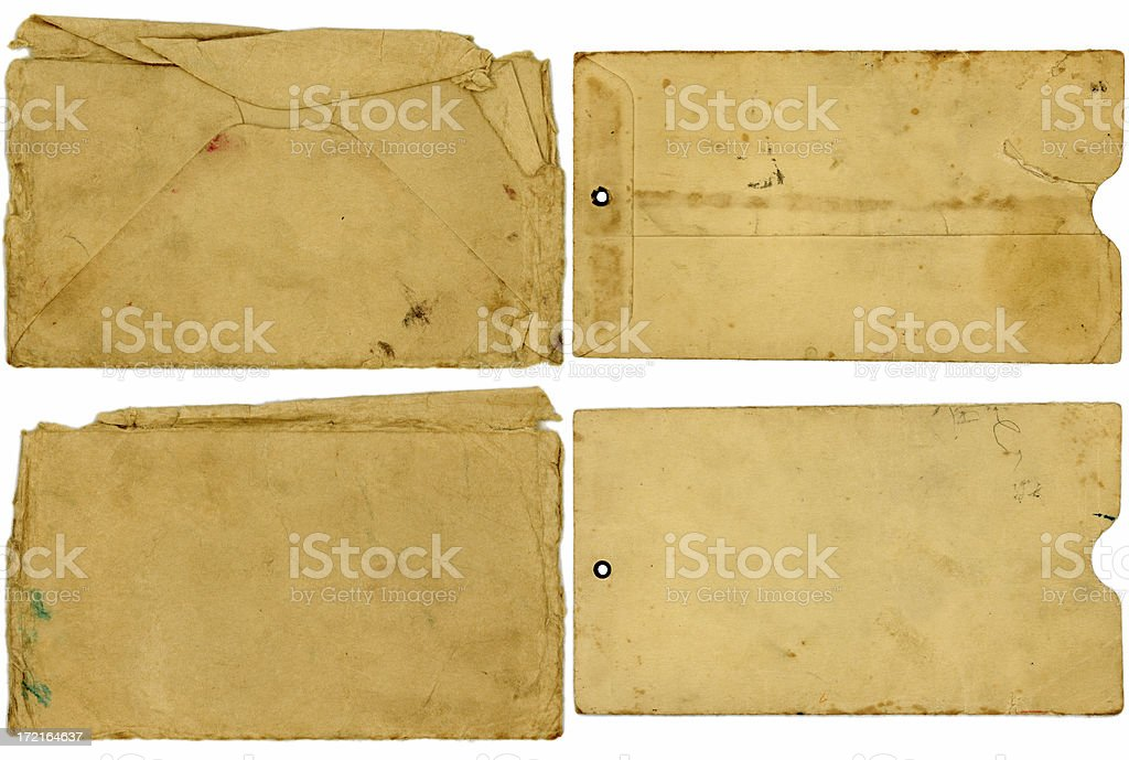 4-Pack of Grungy Envelopes stock photo