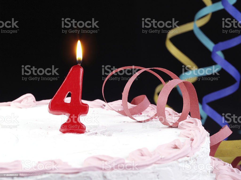 4th. anniversary cake royalty-free stock photo