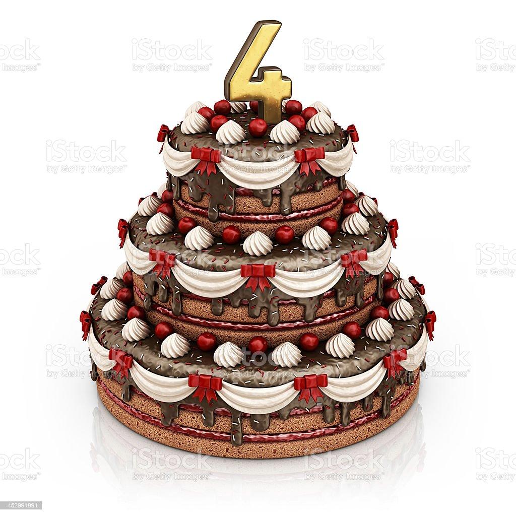 4th birthday/anniversary royalty-free stock photo
