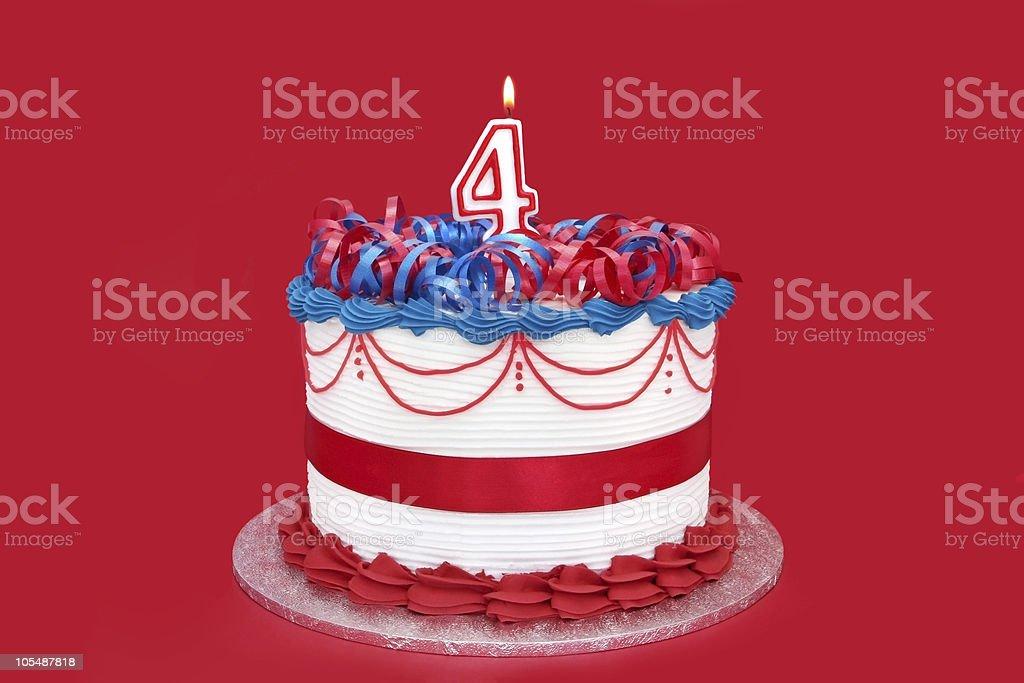 4th Cake royalty-free stock photo