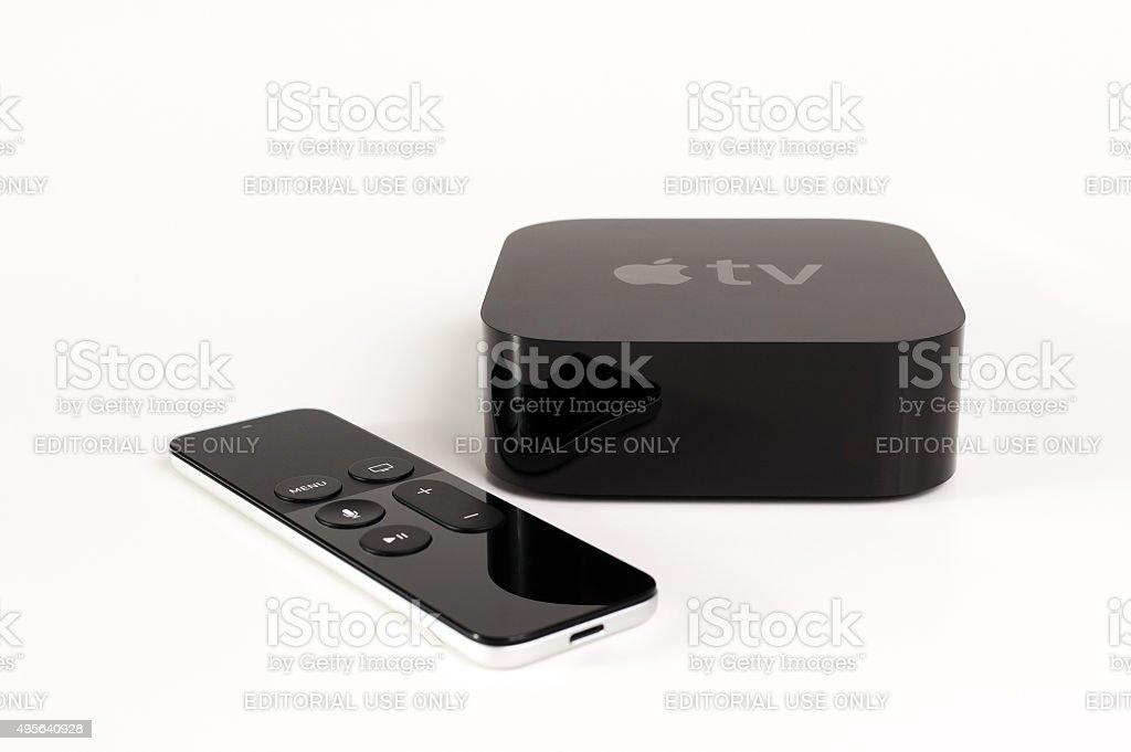 4th Generation Apple TV stock photo