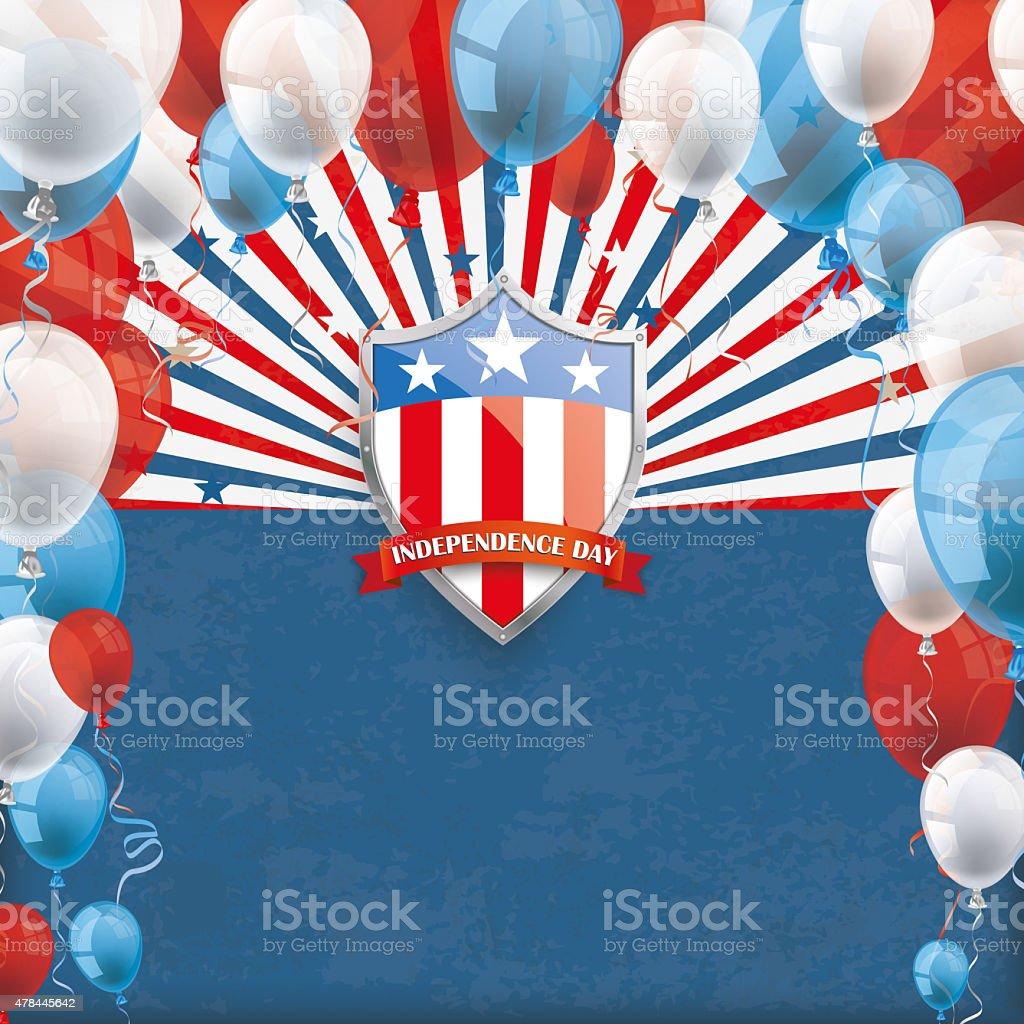 4th July retro Sun Protection Shield Balloons stock photo