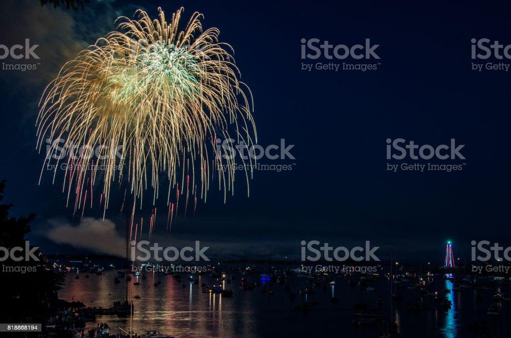 4th of July Firework East Coast stock photo