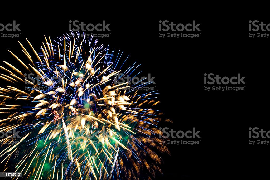 4th of July firework stock photo