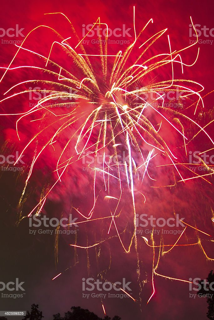 4Th of July fireworks celebration, Christmas and New Year royalty-free stock photo