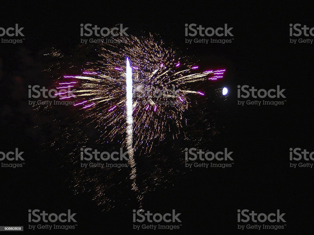 4th of July Fireworks Celebration in USA royalty-free stock photo