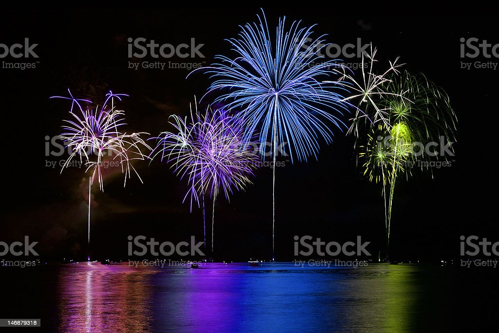 4th of July Fireworks Celebration royalty-free stock photo