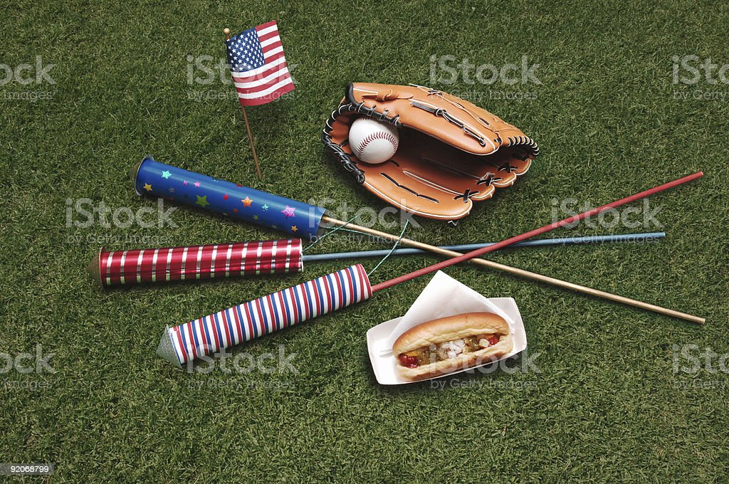 4th of July on grass royalty-free stock photo