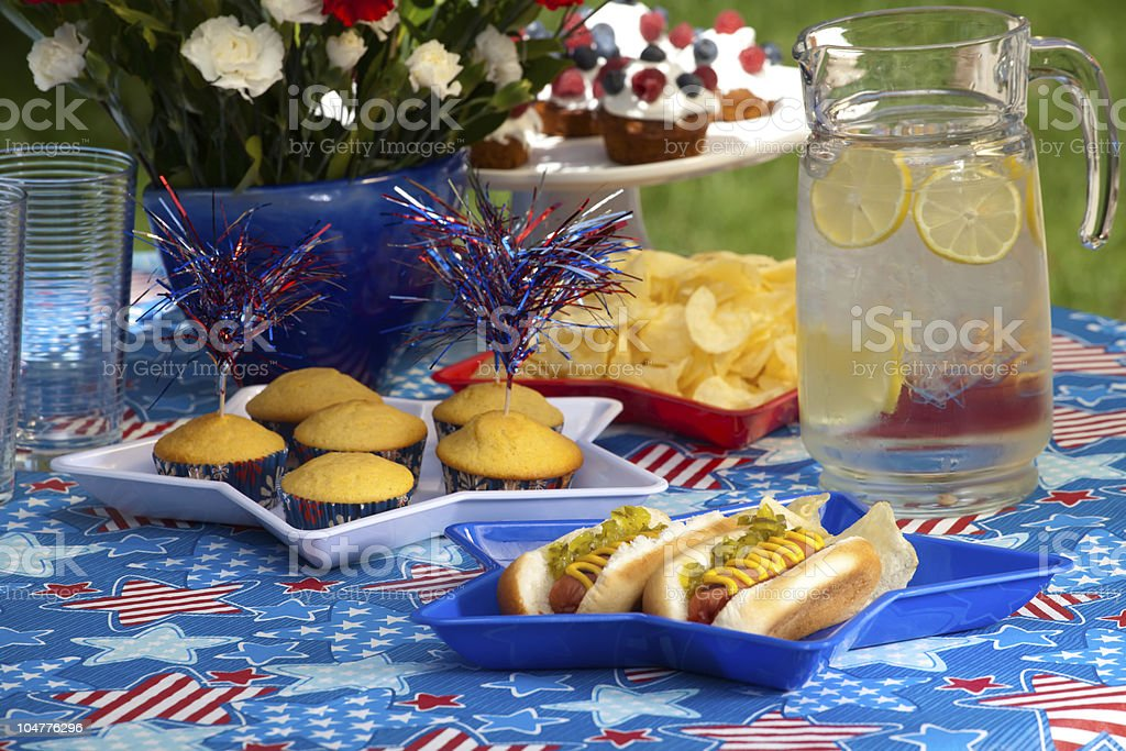 4th of July picnic royalty-free stock photo