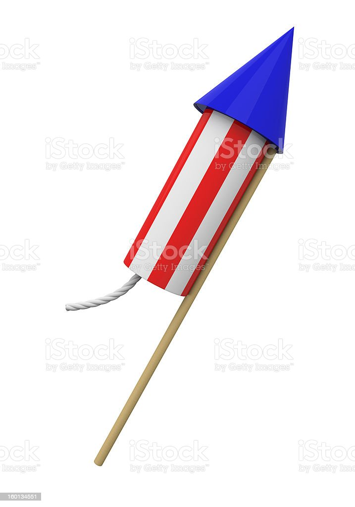 4th of July rocket 2 royalty-free stock photo