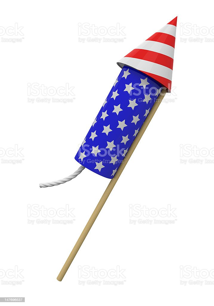 4th of July rocket royalty-free stock photo