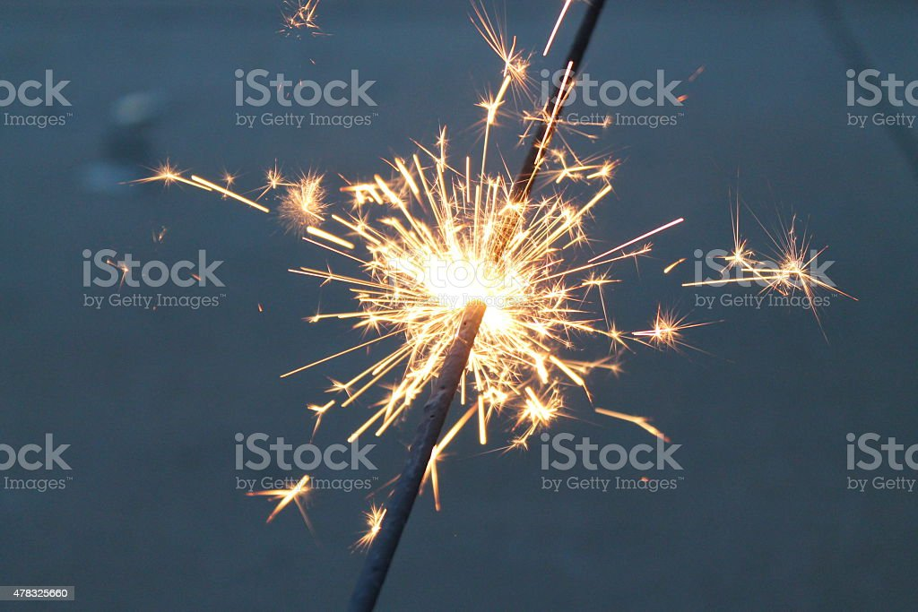 4th of July Sparkler stock photo