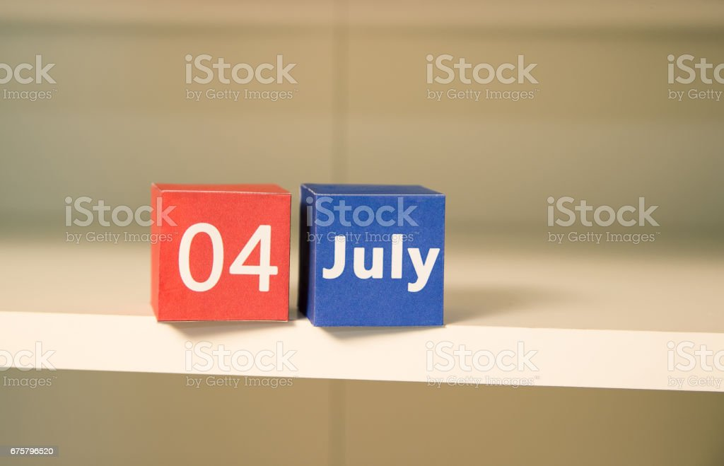 4th of July, the US Independence Day. stock photo