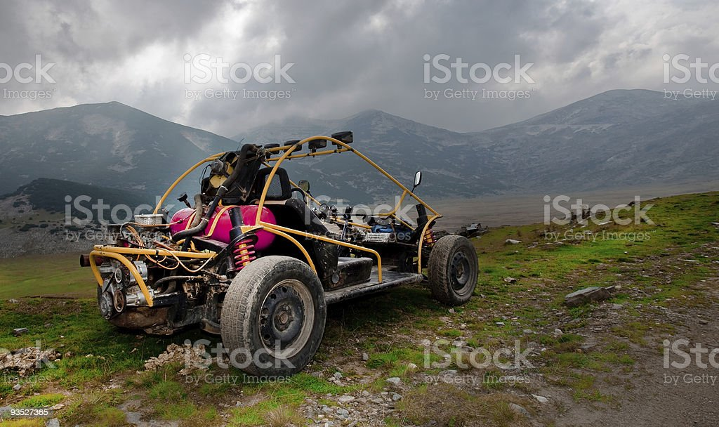 4wd buggy for extreme off-road shot on mountain royalty-free stock photo