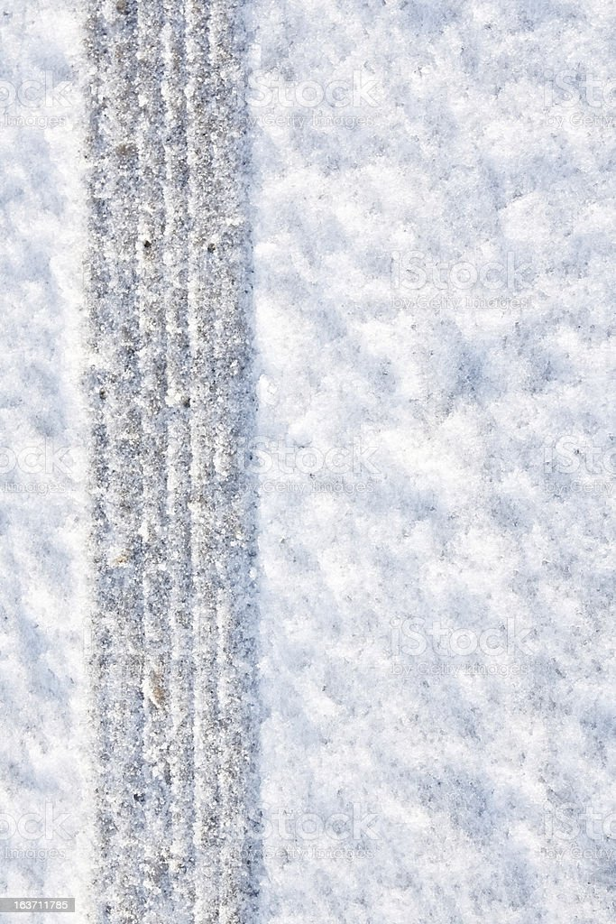 4wd Tyre tread in the snow royalty-free stock photo
