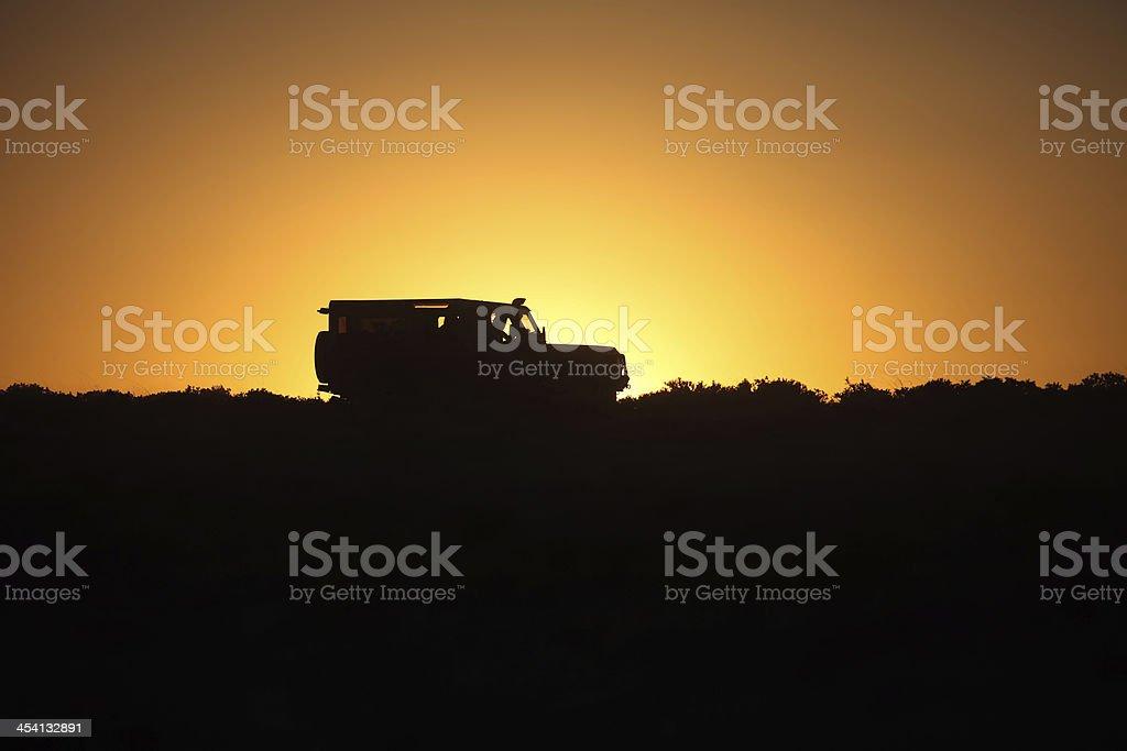 4x4 Adventure Silhouette stock photo