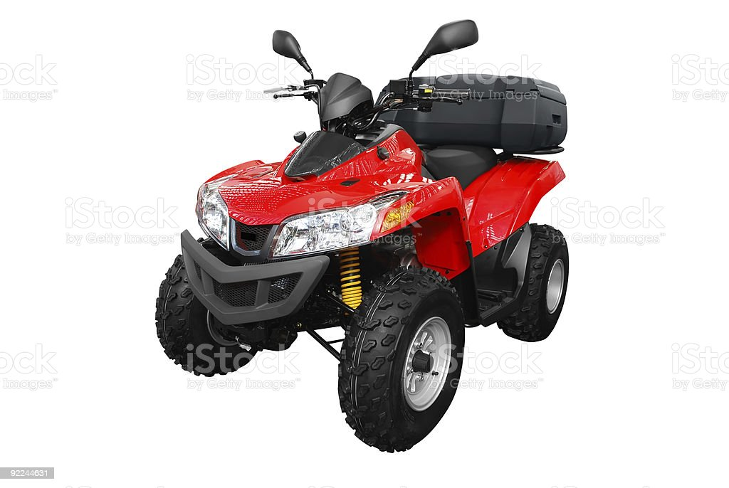 4x4 atv with trunk stock photo