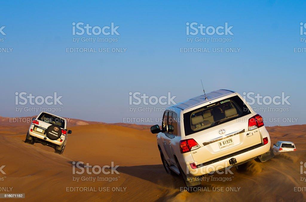 4x4 desert adventure,Dubai stock photo