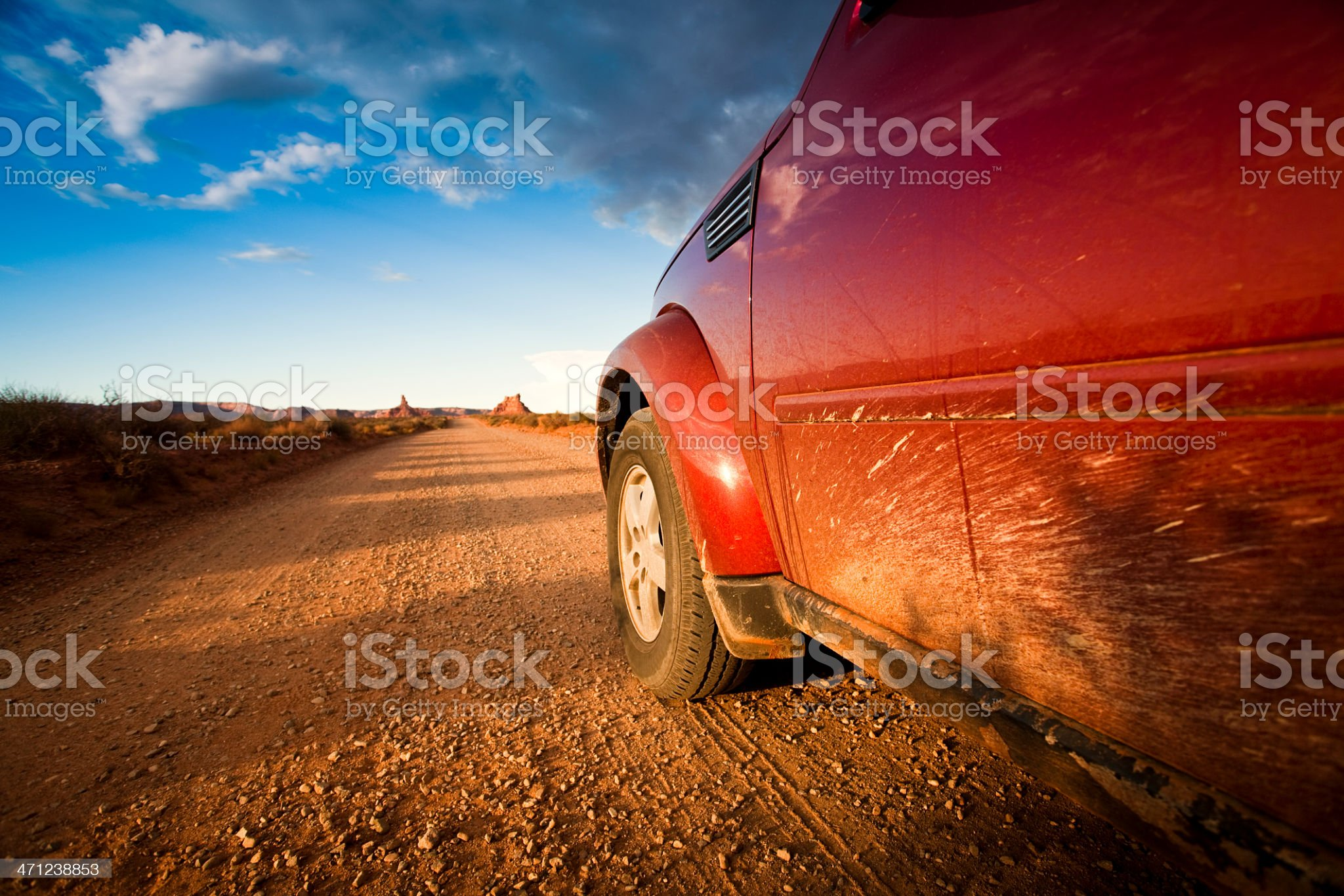 4x4 drives near Valley of the Gods royalty-free stock photo