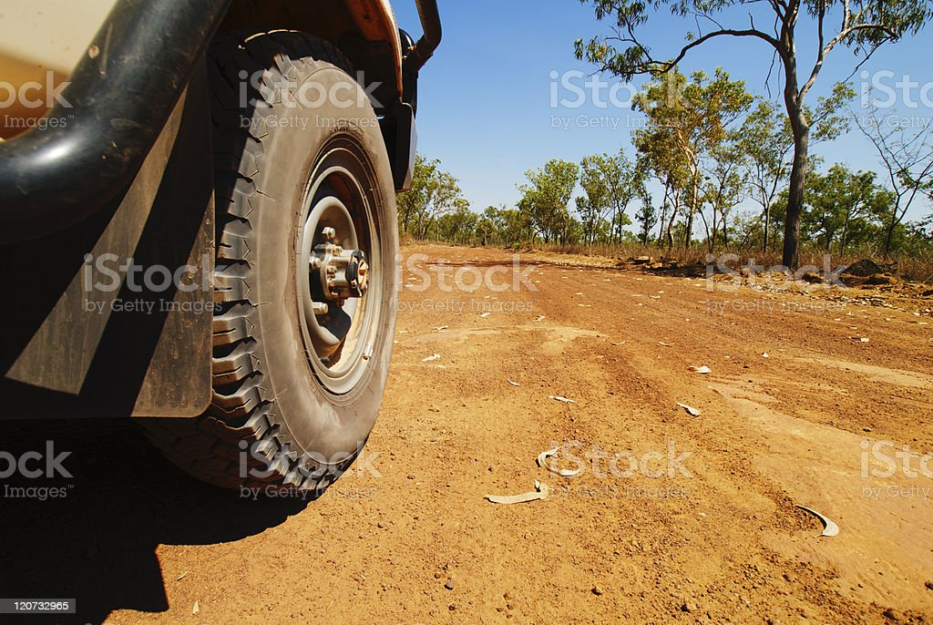 4x4 In The Australian Outback stock photo