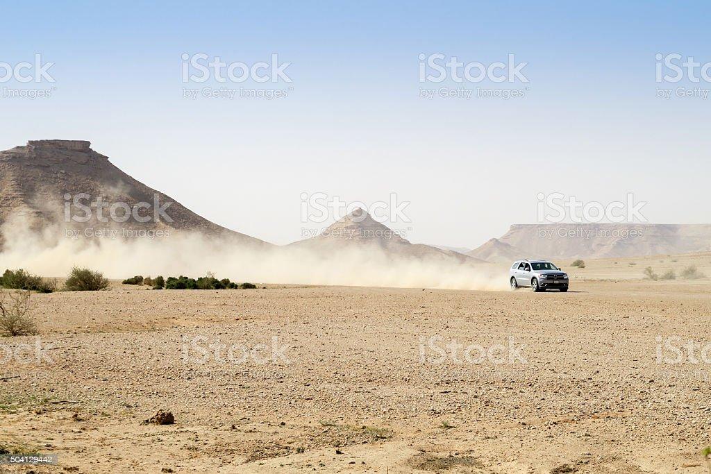 4x4 in the desert stock photo