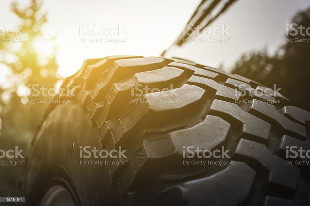 4x4 Spare Tyre stock photo