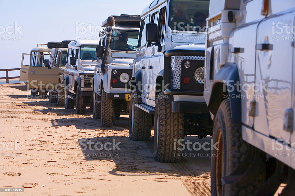 4x4 tourist cars royalty-free stock photo