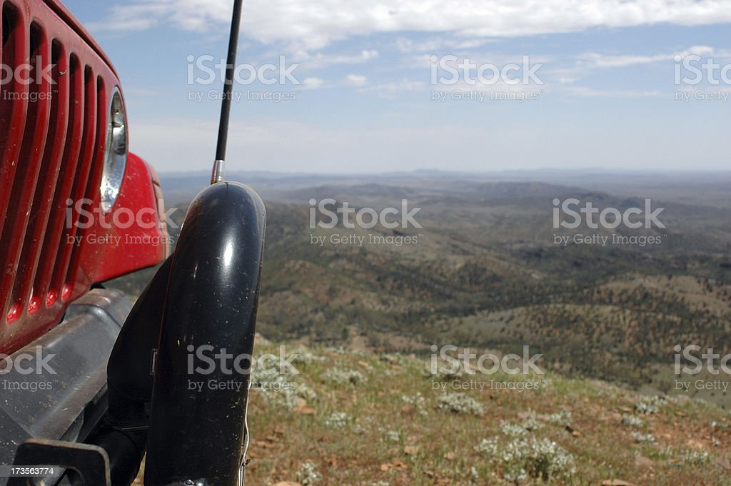 4x4 vehicle driving in the Flinders Ranges royalty-free stock photo