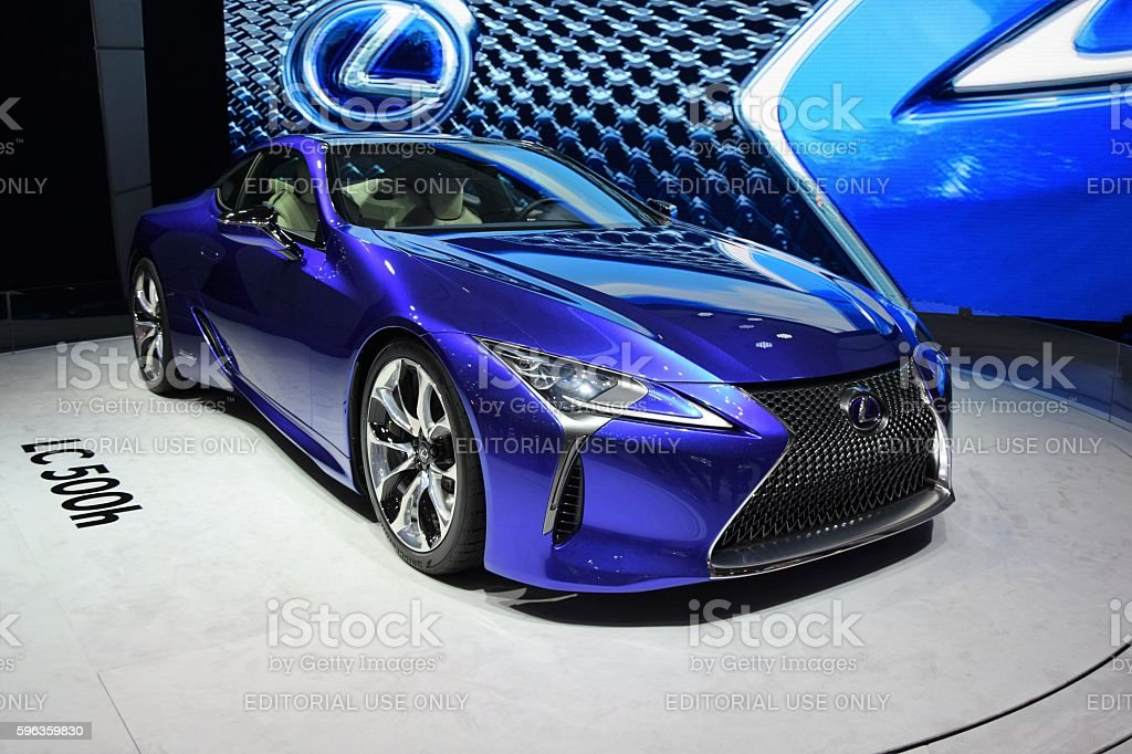 LC 500h - hybrid coupe from Lexus stock photo