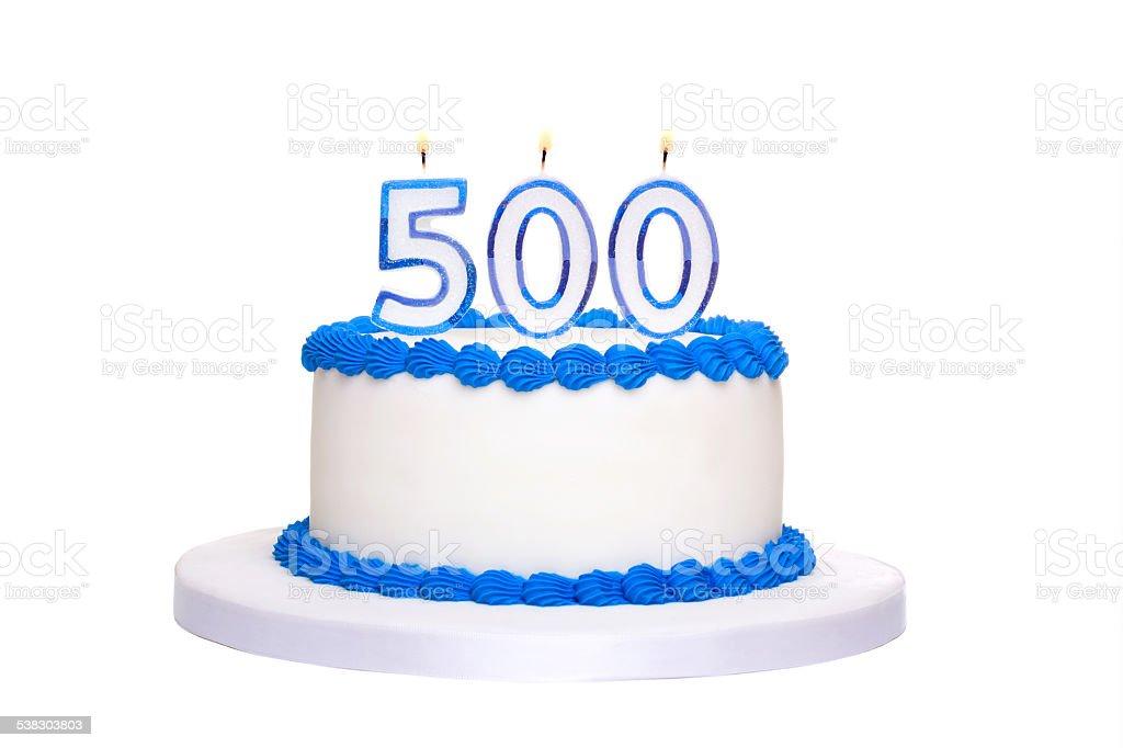 500th birthday cake stock photo