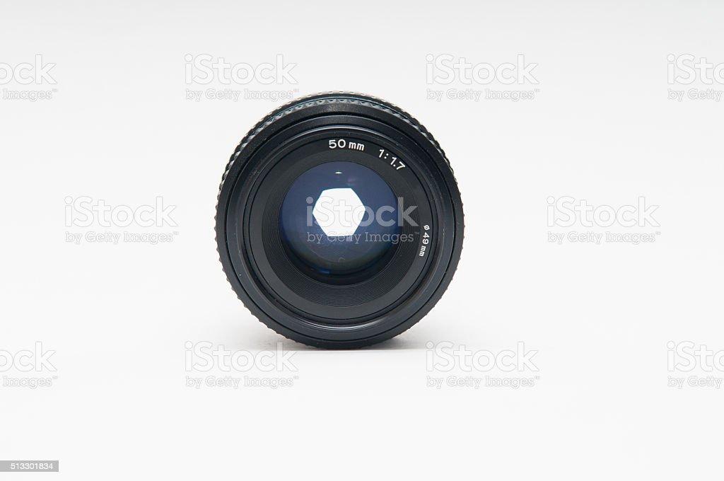 50mm prime lens stock photo