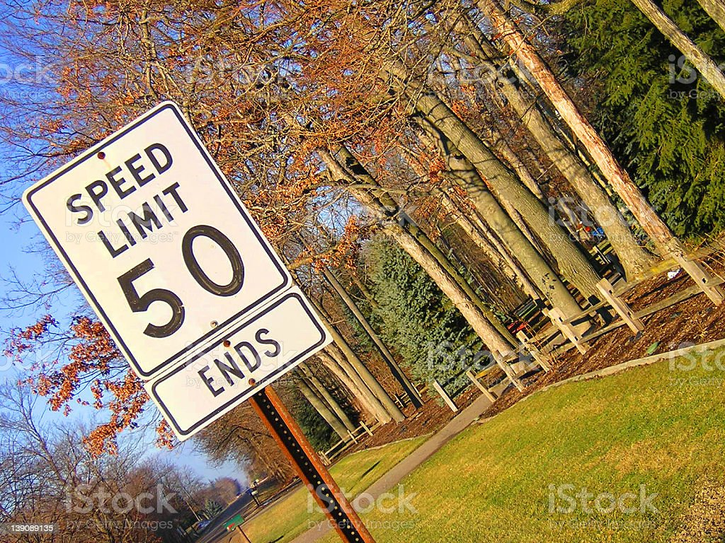 50mph Ends royalty-free stock photo