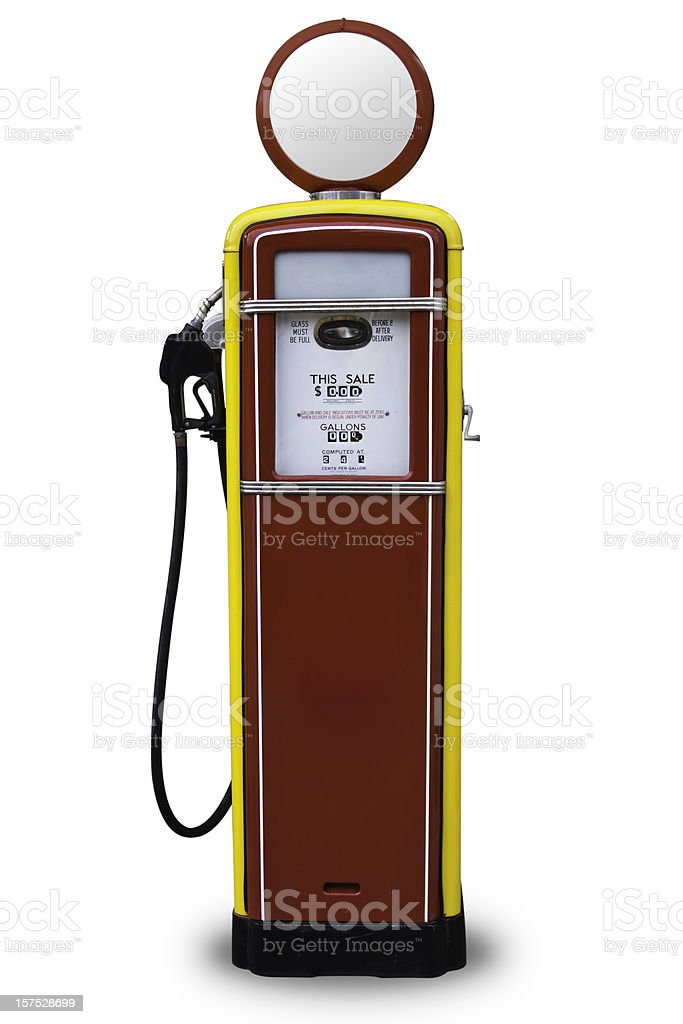 50s Style Red Gas Pump stock photo