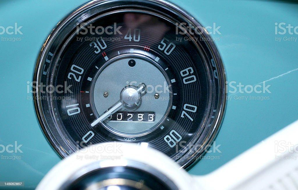 50s Vintage Speedometer royalty-free stock photo