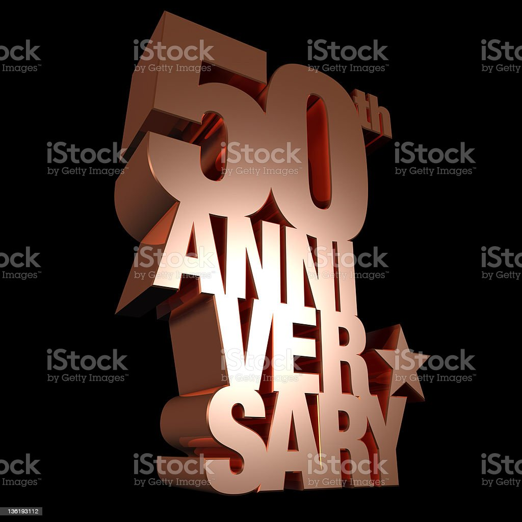 50th anniversary metal stock photo